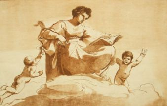 257 year old Guercino by William Ryland; Clio 1763